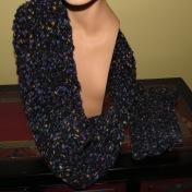 Fleece wool scarf/fingerless gloves