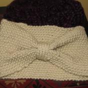 Turban in Moss stitch