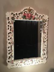 Ceramic mosaic mirror