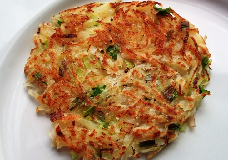 Potato Rosti Cooked